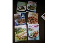 Set of 6 cookbooks