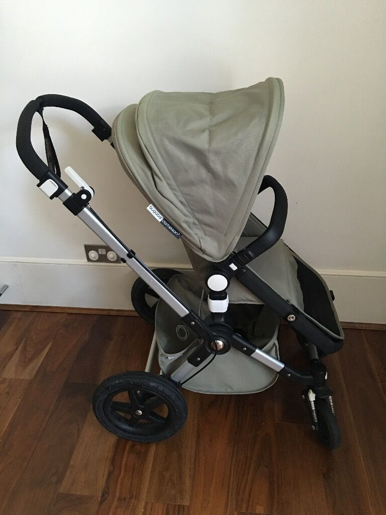 bugaboo cameleon3 classic pushchair in dark khaki with. Black Bedroom Furniture Sets. Home Design Ideas