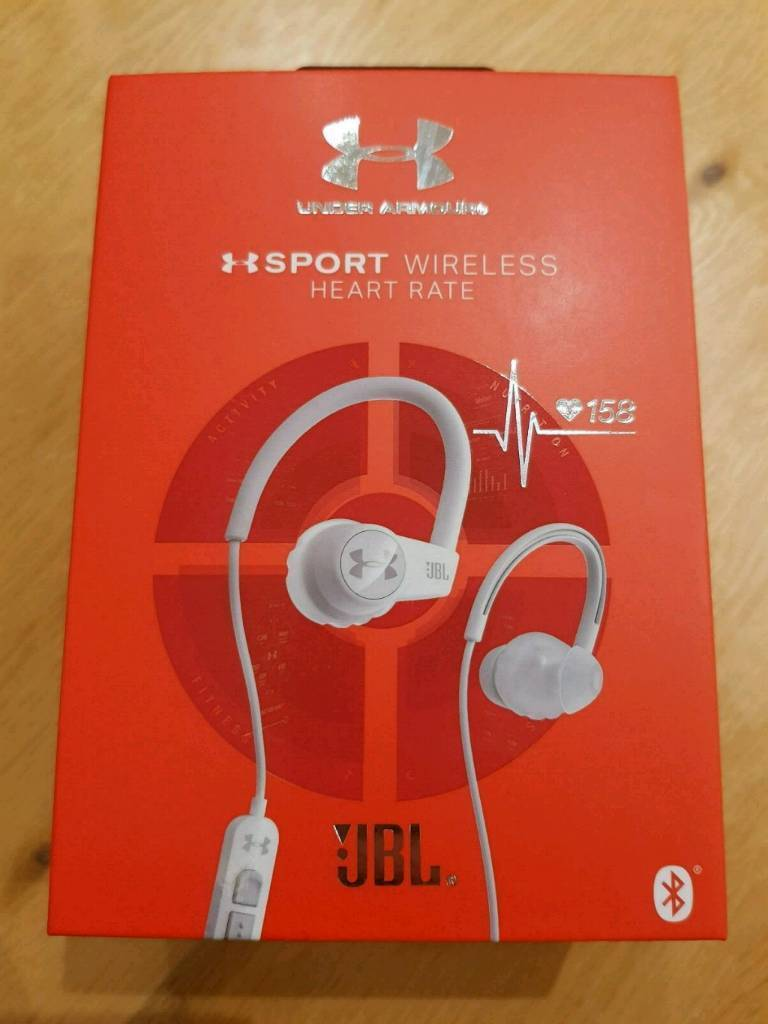 fd7178dfd24 JBL Under Armour Sport Wireless Heart Rate Bluetooth Headphones White