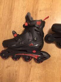 Children's inline skates rollerblades size 13, 1, 2, 3 adjustable