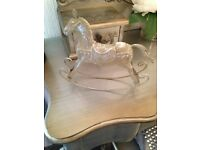 Vintage style rocking horse ornament