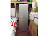 bosch 6 foot tall and 2 foot wide half and half frost free silver fridge freezer (like new)