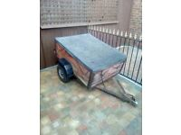 4x3 Trailer With Cover Good Condition
