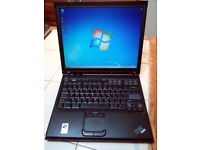 LAPTOP IBM; 1GB RAM,WIFI WIRELESS NET.DVDRW. WINDOWS 7/OFFICE 2010,CASE,CHARGER