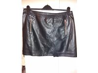 Dorothy Perkins leather skirt size 16