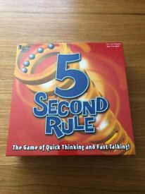 5 Second Rule Board Game Brand New And Sealed