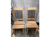 Solid Wood Chairs and iron Design