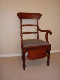 A Victorian/Edwardian mahogany Commode chair with pot