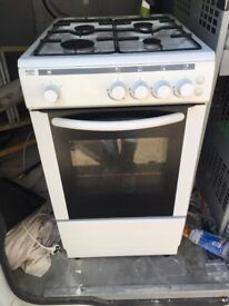 White Gas Cooker 50cm Wide