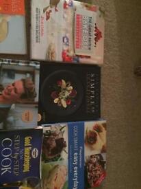 13 different cookbooks
