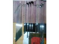 A large set of vintage golf clubs with exclusive bag!