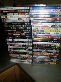 57 DVD Mixed Genre New in wrapper **£20.00 the lot**