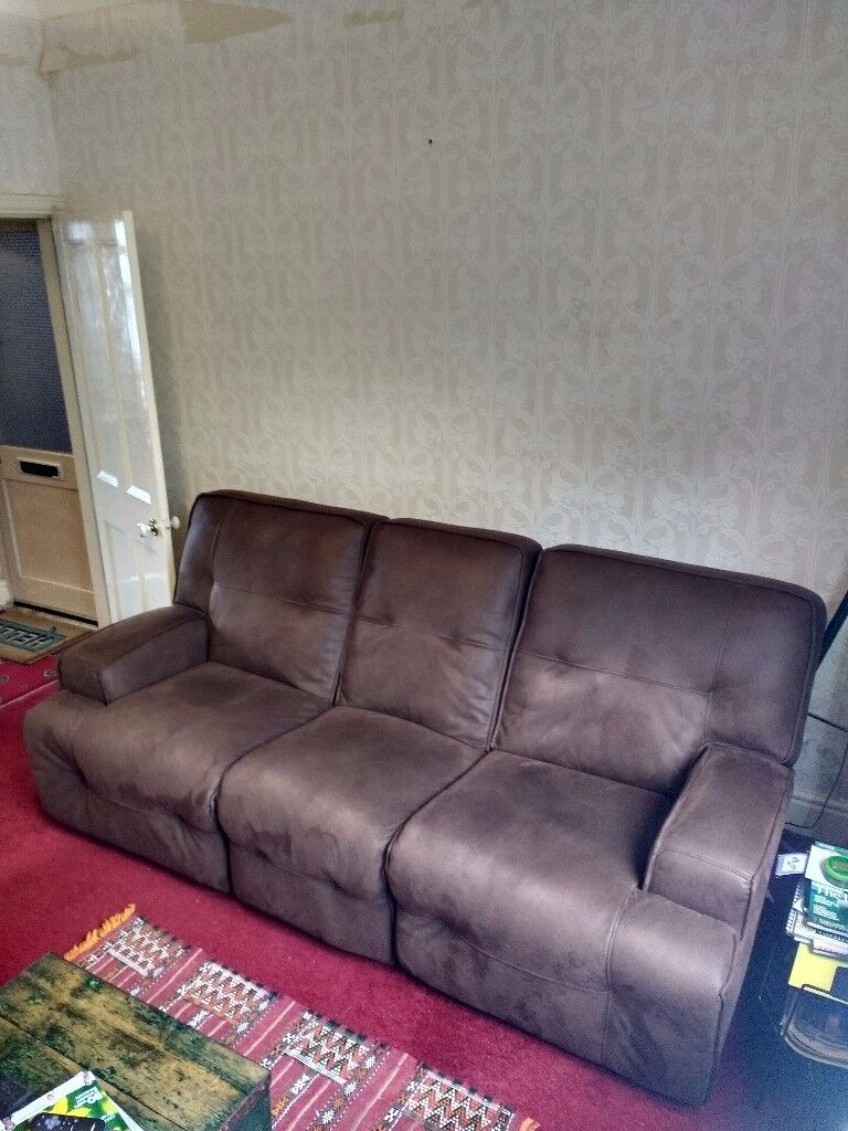 Three seat reclining sofa