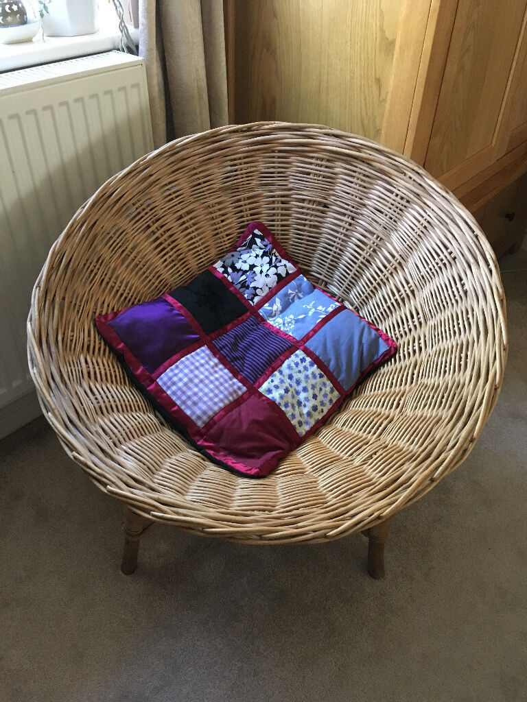 1950's retro wicker basket chair
