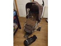 Quinny Zap pushchair with raincover and footmuff