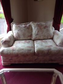 2 & 3 Seater BIG American cream comfy sofas for sale including coffee tables £350