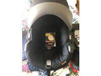 BeSafe Baby rearward facing car seat and IsoFix base