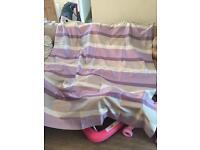 Purple beige curtains