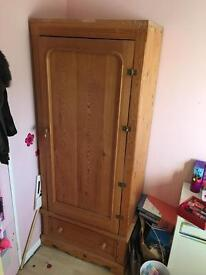 Solid Oak Wood Wardrobe
