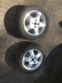 "pair of 14"" alloy wheels, trike wheels 4x100 PCD 14"" x 6j"