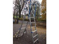 Magic Adjustable Platform, ladder, steps for hedge cutting, decorating, builders