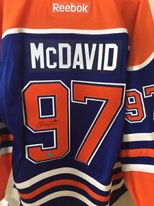 Signed Connor McDavid Jersey with COA!