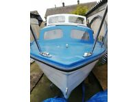 mayland 17ft boat with yamaha 15hp outboard.. for sale  Immingham, Lincolnshire