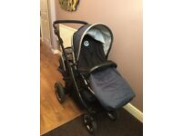 Babystyle Oyster Max 2 Tandem Pushchair with ride on board