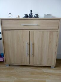 Two oak two drawer sideboards