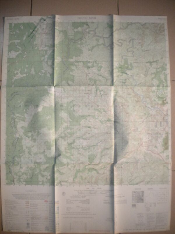 Phuoc Binh Vietnam map AIR CAV Huey Green Beret MACV SOG 6332 I