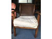 2 x 1920's oak chairs