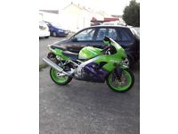 Kawasaki zx9r c2 green .