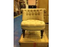Bouji Cream Armchair - perfect for bedroom - excellent condition