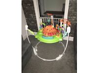 Used fisher price jumperoo from smoke free hom excellent condition only 6 months old son loved it .
