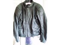 Ashman black Leather motorcycle jacket in very good condition