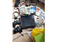 xbox 360 with games and stuff