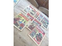 Old vintage war type comics