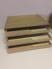 Oak Veneered Deep Drawer Unit