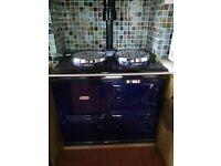 Aga 2-oven gas range cooker fully operational