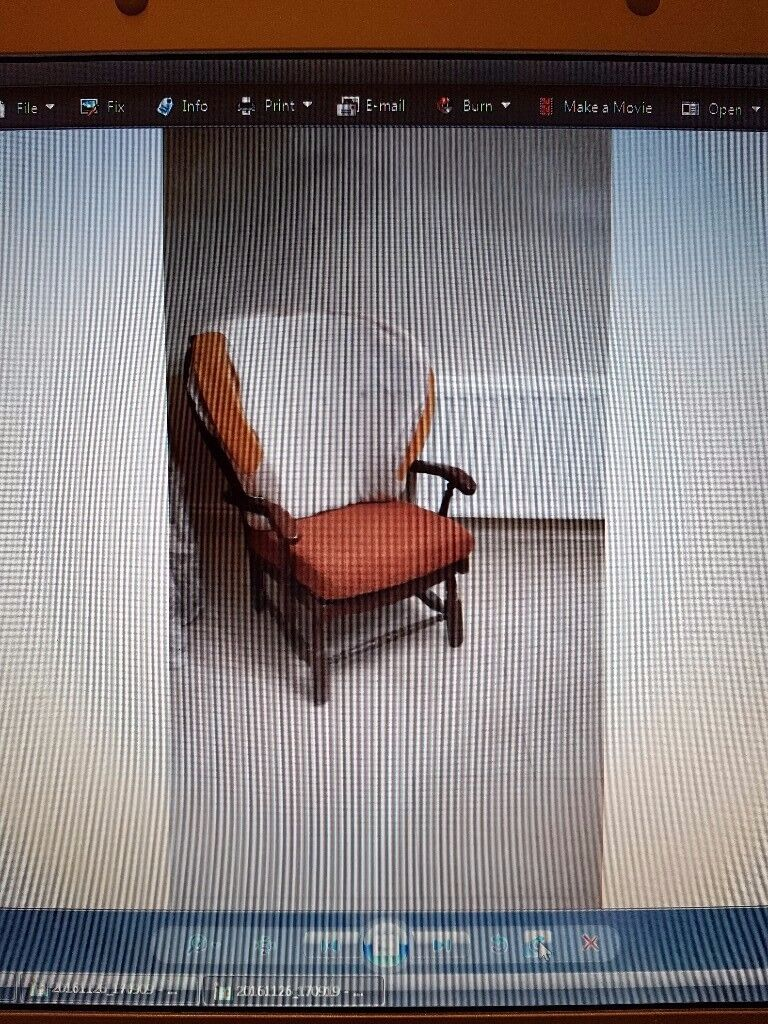 Arm chair, maghony colour wood, perfect for upcycling