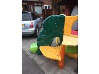 Climbing frame and slide little tikes