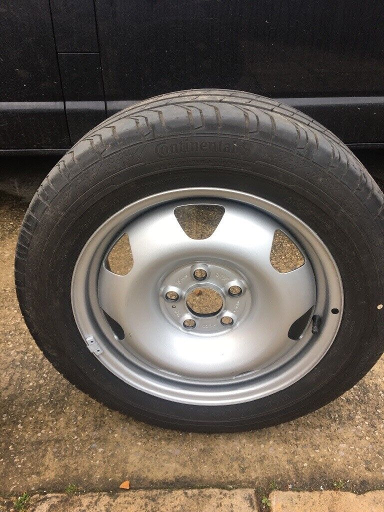 Vw t6 transporter original spare wheels brand new continental tyres