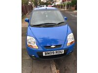 Blue Chevrolet matiz 2009 automatic 5door 0.8 petrol
