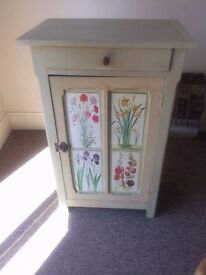 Floral Shabby Chic Storage Cabinet