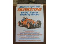 Motor Racing Posters. Original and genuine Silverstone posters from the 1972 season.