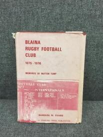 Rare vintage retro 70s Blaina Rugby Football Club book wales Welsh interest Rare SDHC