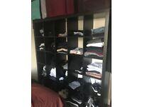 IKEA 20 CUBE STORAGE UNIT BLACK (10X10) WARDROBE / SHELVES