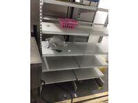 Stotage shelving, shop fitting , display shelves