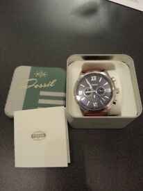 Fossil Men watch with leather strap - great condition