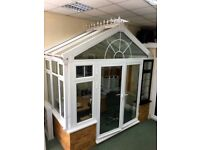 ALUMINIUM CONSERVATORY WITH FRENCH DOORS